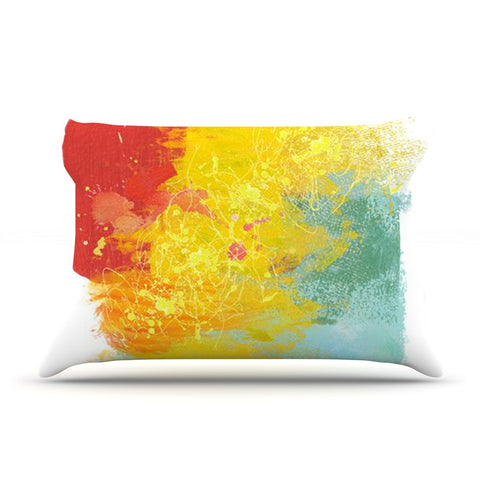 "Oriana Cordero ""Medley"" Colorful Paint Pillow Sham - KESS InHouse"