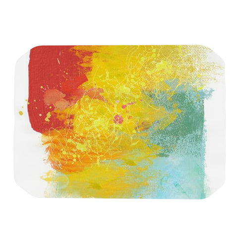 "Oriana Cordero ""Medley"" Colorful Paint Place Mat - KESS InHouse"