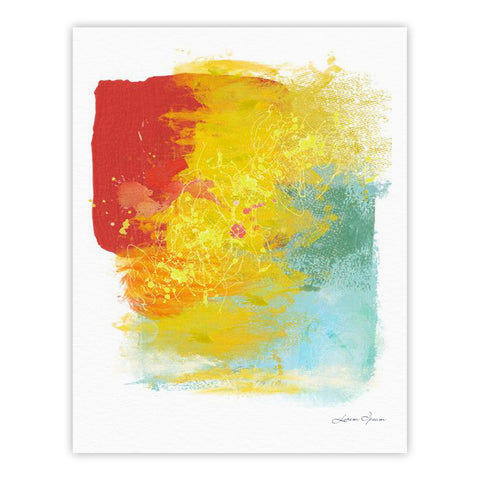 "Oriana Cordero ""Medley"" Colorful Paint Fine Art Gallery Print - KESS InHouse"