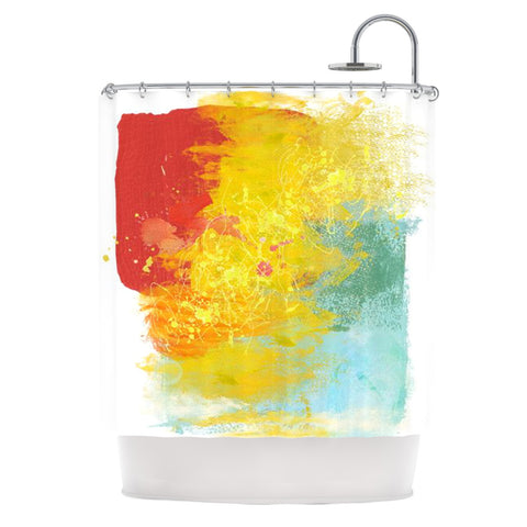 "Oriana Cordero ""Medley"" Colorful Paint Shower Curtain - KESS InHouse"