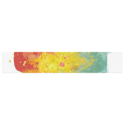 "Oriana Cordero ""Medley"" Colorful Paint Table Runner - KESS InHouse  - 1"