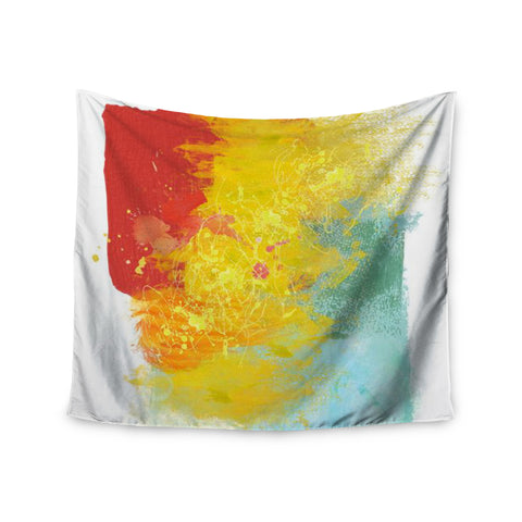 "Oriana Cordero ""Medley"" Colorful Paint Wall Tapestry - KESS InHouse  - 1"