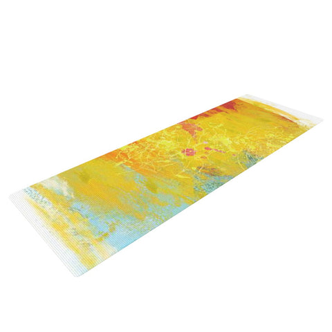 "Oriana Cordero ""Medley"" Colorful Paint Yoga Mat - KESS InHouse  - 1"