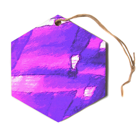 "Oriana Cordero ""Suenos En Purpura"" Purple Lavender Hexagon Holiday Ornament"