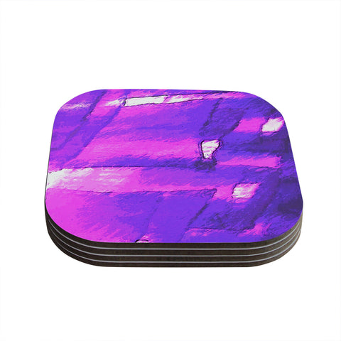 "Oriana Cordero ""Suenos en Purpura"" Purple Lavender Coasters (Set of 4)"