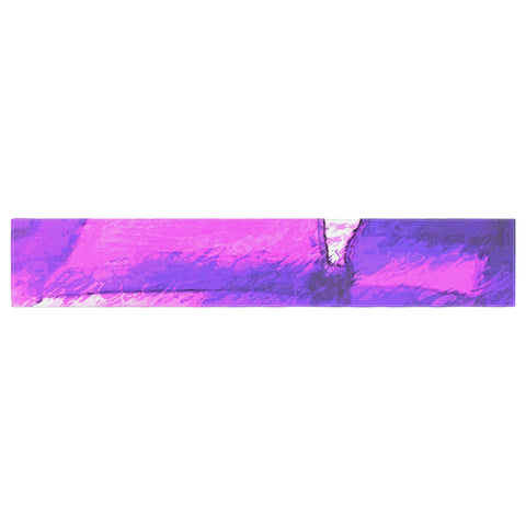 "Oriana Cordero ""Suenos en Purpura"" Purple Lavender Table Runner - KESS InHouse  - 1"