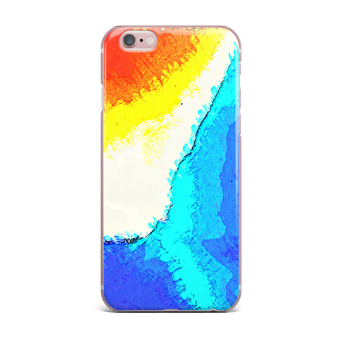"Oriana Cordero ""Amalfi Coast"" Blue White iPhone Case - KESS InHouse"