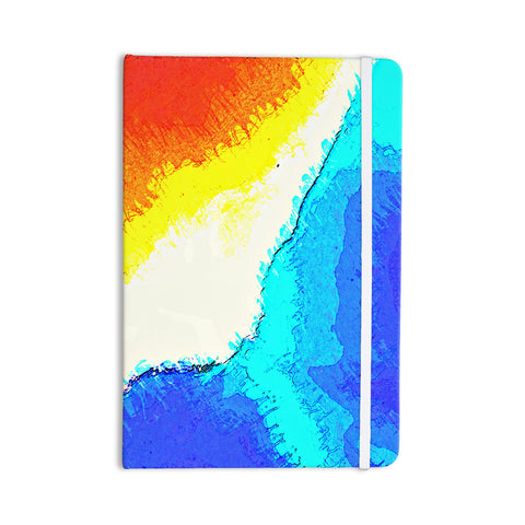 "Oriana Cordero ""Amalfi Coast"" Blue White Everything Notebook - KESS InHouse  - 1"