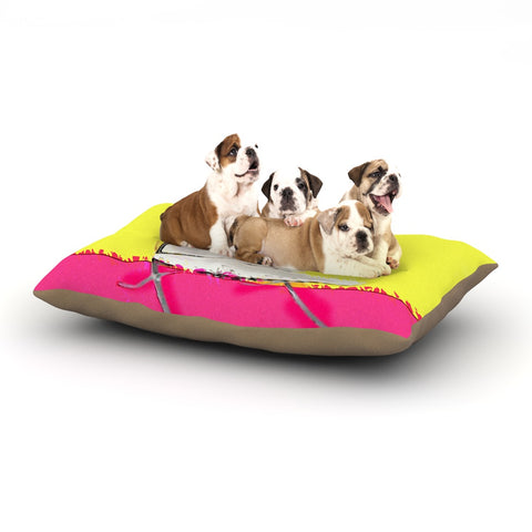 "Oriana Cordero ""Barcelona Chair"" Pink Yellow Dog Bed - Outlet Item"