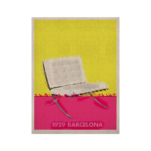"Oriana Cordero ""Barcelona Chair"" Pink Yellow KESS Naturals Canvas (Frame not Included) - KESS InHouse  - 1"
