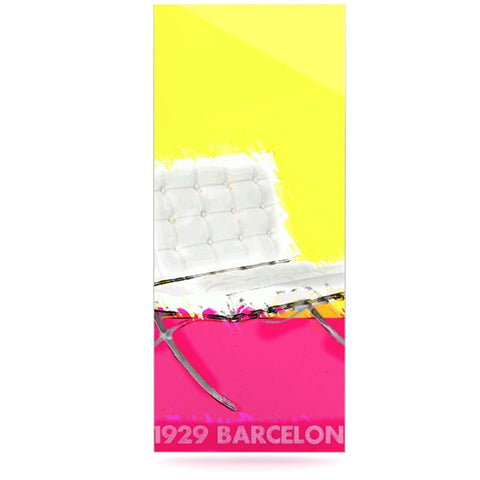 "Oriana Cordero ""Barcelona Chair"" Pink Yellow Luxe Rectangle Panel - KESS InHouse  - 1"