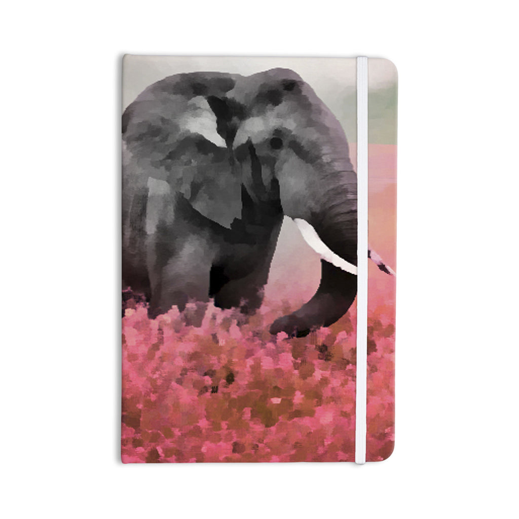 "Oriana Cordero ""Ele-Phant"" Pink Gray Everything Notebook - KESS InHouse  - 1"
