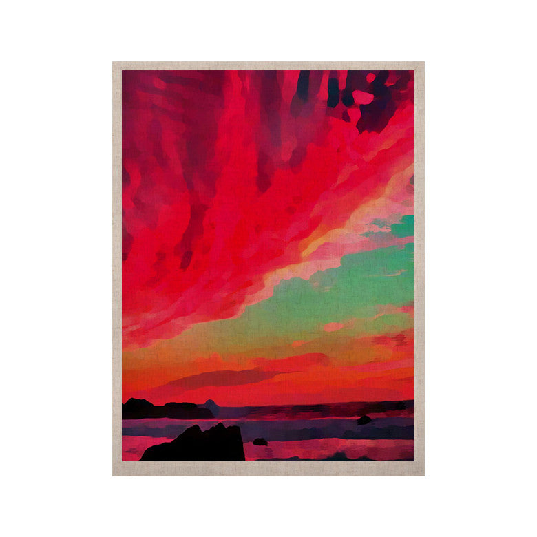 "Oriana Cordero ""Apetto All'alba"" Red Teal KESS Naturals Canvas (Frame not Included) - KESS InHouse  - 1"