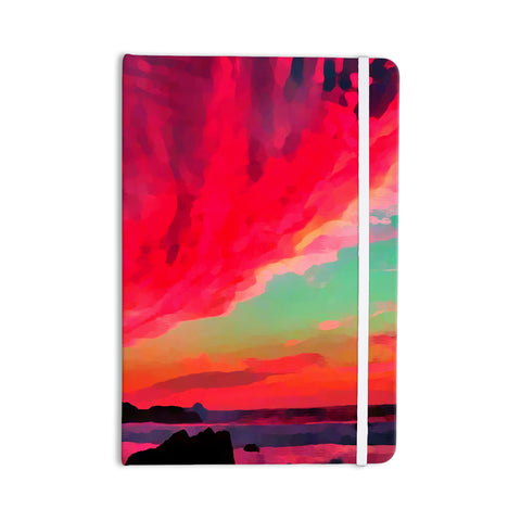 "Oriana Cordero ""Apetto All'alba"" Red Teal Everything Notebook - KESS InHouse  - 1"