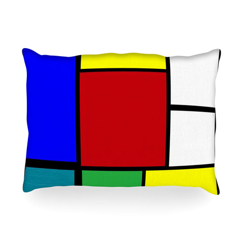 "Oriana Cordero ""Mondrian & Me"" Multicolor Oblong Pillow - KESS InHouse"