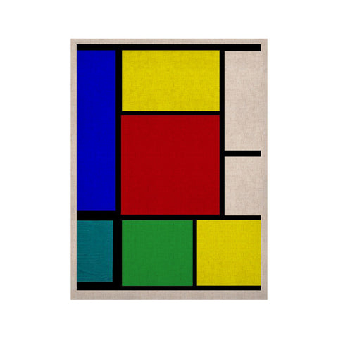 "Oriana Cordero ""Mondrian & Me"" Multicolor Squares KESS Naturals Canvas (Frame not Included) - KESS InHouse  - 1"