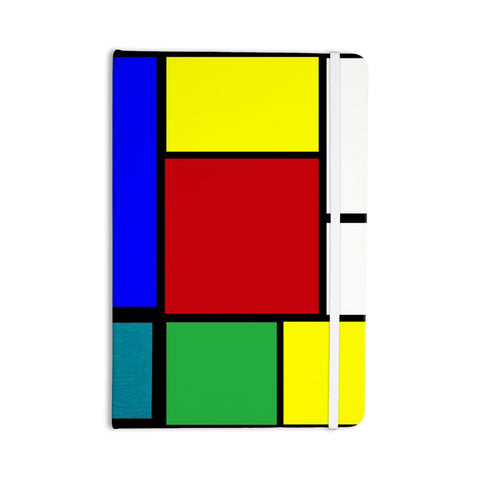 "Oriana Cordero ""Mondrian & Me"" Multicolor Squares Everything Notebook - KESS InHouse  - 1"