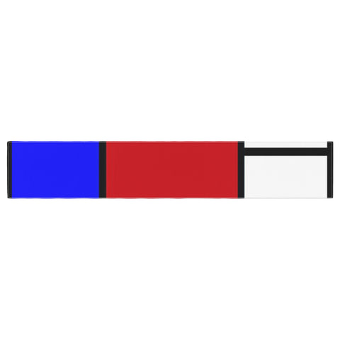 "Oriana Cordero ""Mondrian & Me"" Multicolor Squares Table Runner - KESS InHouse  - 1"