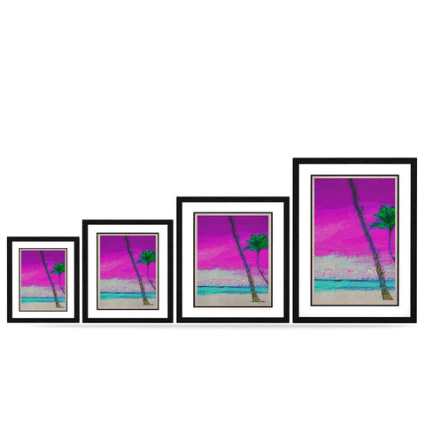 "Oriana Cordero ""Caribe S"" Pink Aqua KESS Naturals Canvas (Frame not Included) - KESS InHouse"