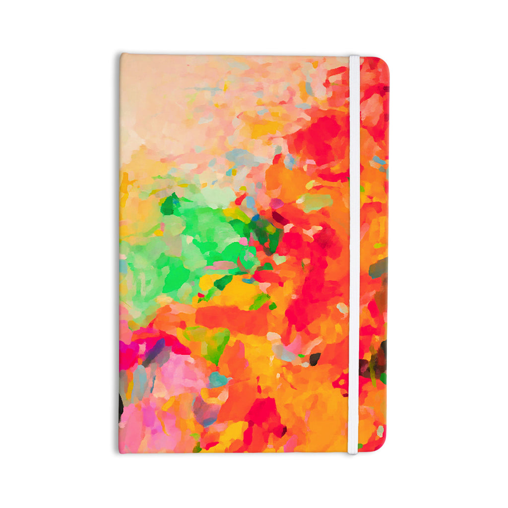 "Oriana Cordero ""La Rochelle-Abstract"" Red Multicolor Everything Notebook - KESS InHouse  - 1"