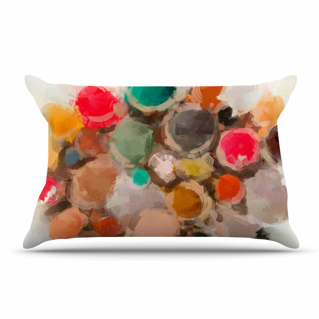 "Oriana Cordero ""La Maddalena"" Multicolor Abstract Pillow Sham - KESS InHouse"