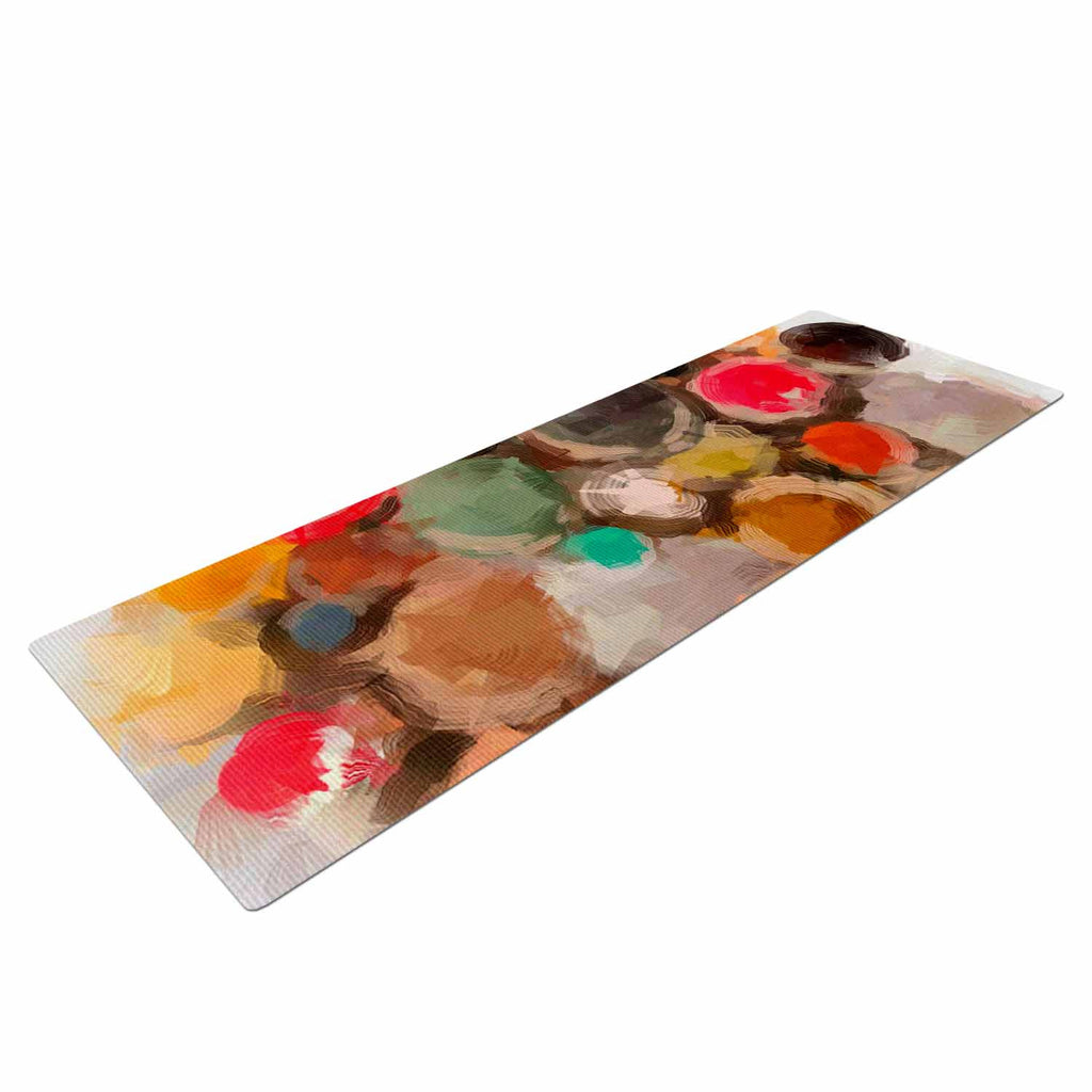 "Oriana Cordero ""La Maddalena"" Multicolor Abstract Yoga Mat - KESS InHouse  - 1"