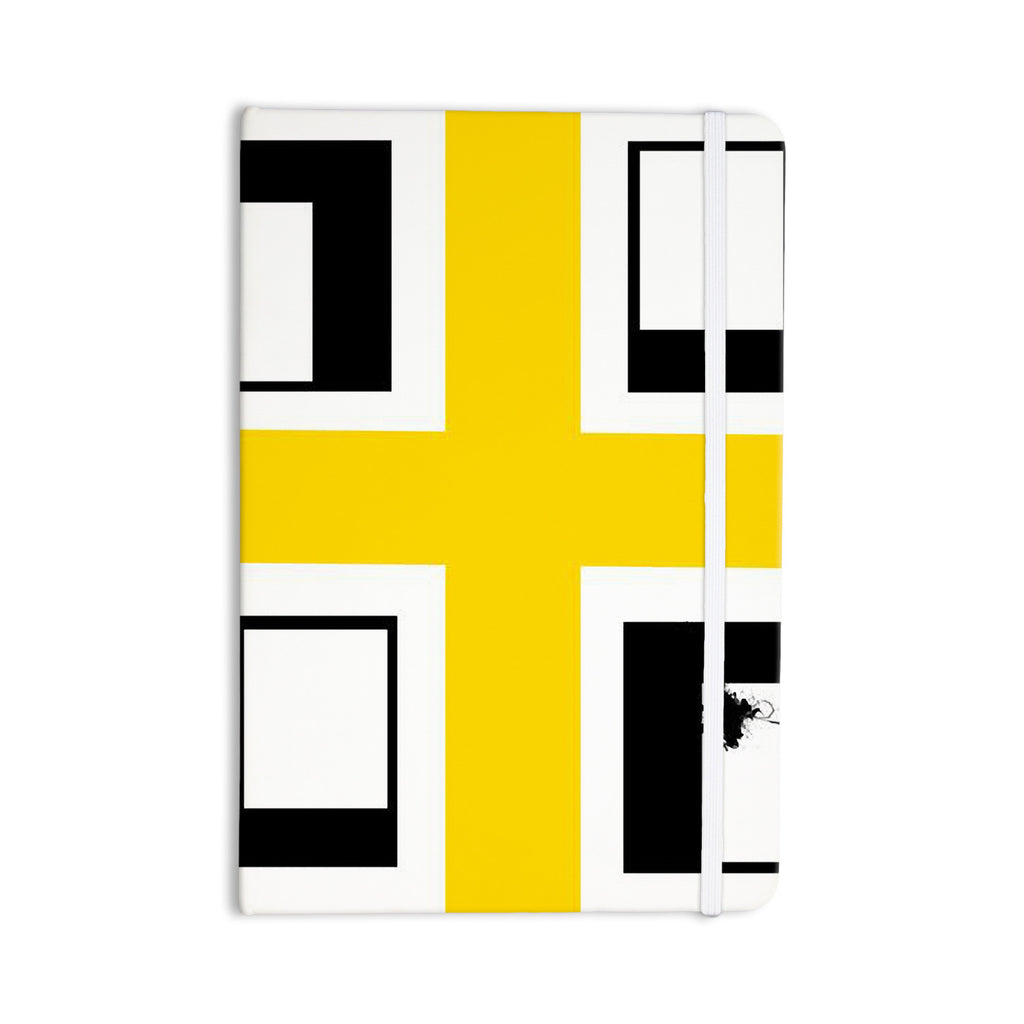 "Oriana Cordero ""Across The White"" Yellow Black Everything Notebook - KESS InHouse  - 1"
