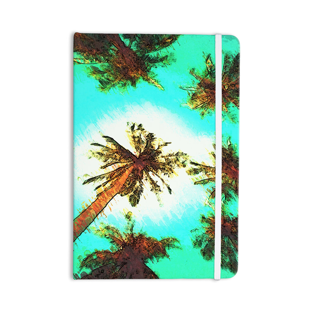 "Oriana Cordero ""Paradise"" Teal Trees Everything Notebook - KESS InHouse  - 1"