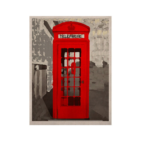 "Oriana Cordero ""London"" Red Gray KESS Naturals Canvas (Frame not Included) - KESS InHouse  - 1"