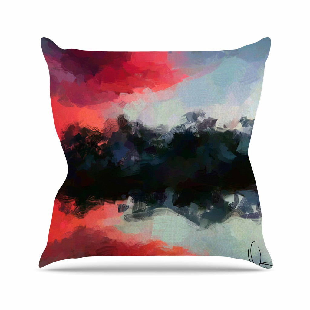 "Oriana Cordero ""Montserrat"" Pink Black Outdoor Throw Pillow - KESS InHouse  - 1"