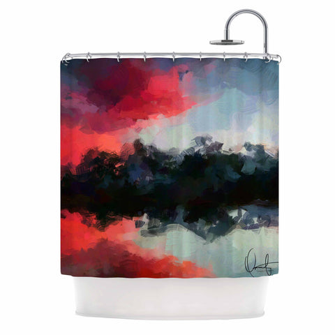 "Oriana Cordero ""Montserrat"" Pink Black Shower Curtain - KESS InHouse"