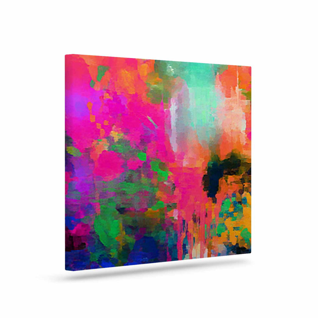 "Oriana Cordero ""Montesilvano-Abstract"" Rainbow Painting Canvas Art - KESS InHouse  - 1"