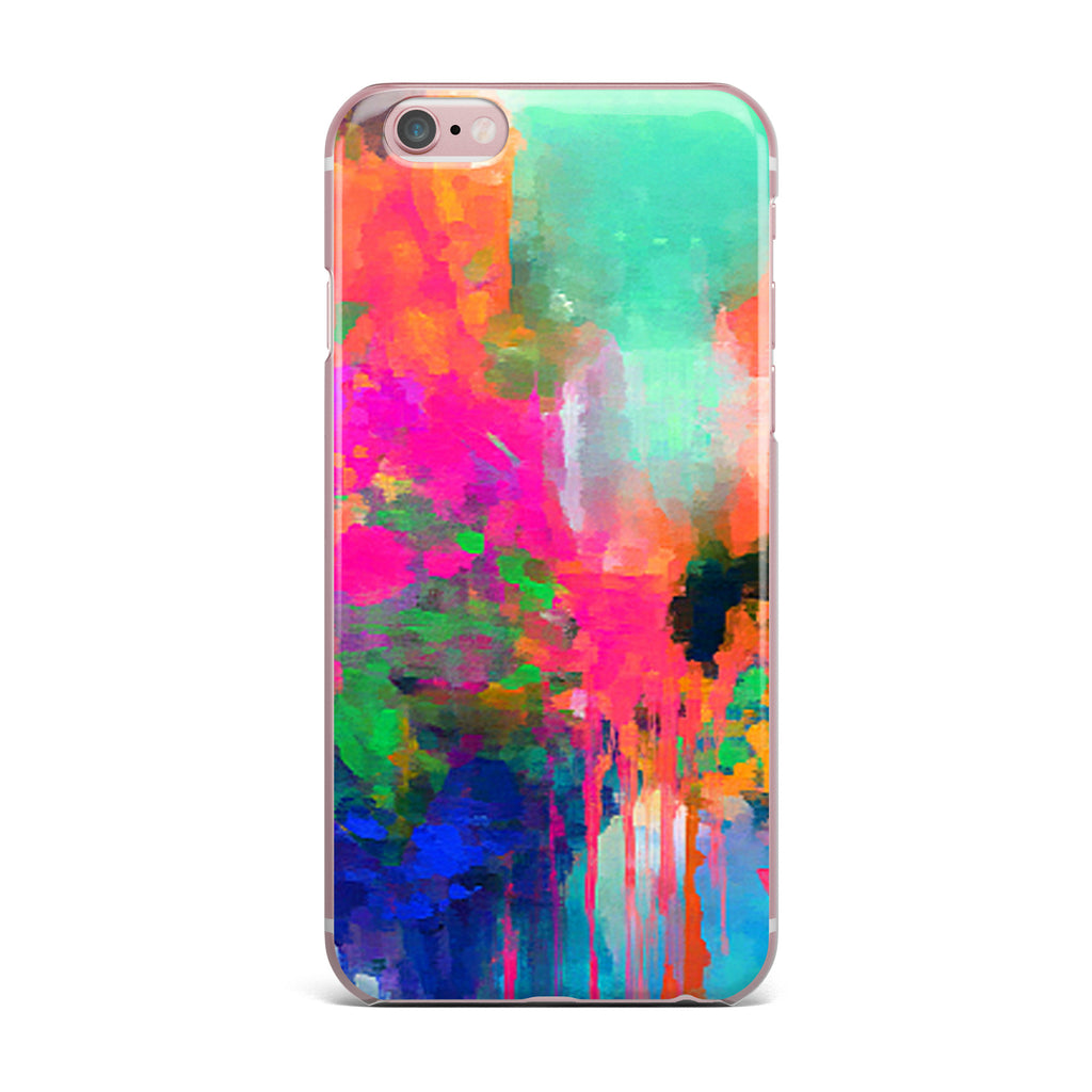 "Oriana Cordero ""Montesilvano-Abstract"" Rainbow Painting iPhone Case - KESS InHouse"