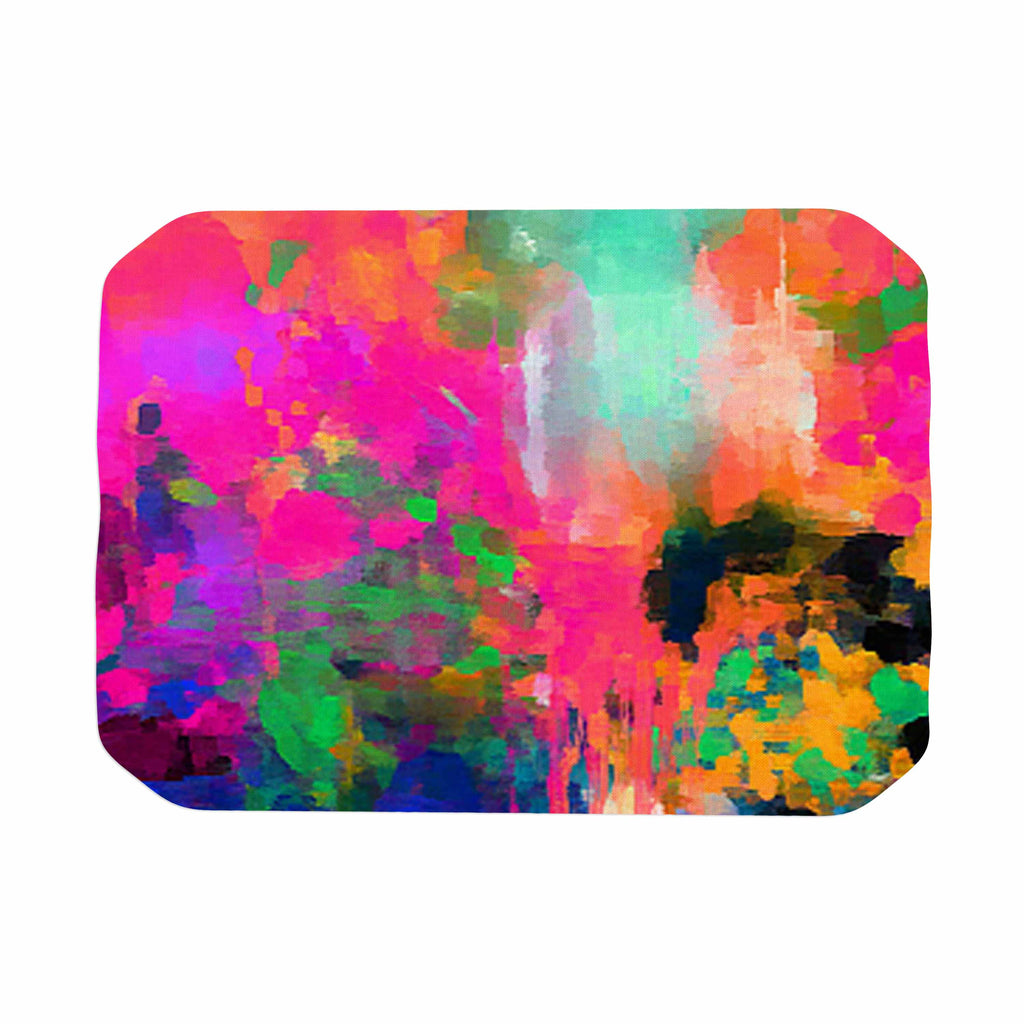 "Oriana Cordero ""Montesilvano-Abstract"" Rainbow Painting Place Mat - KESS InHouse"