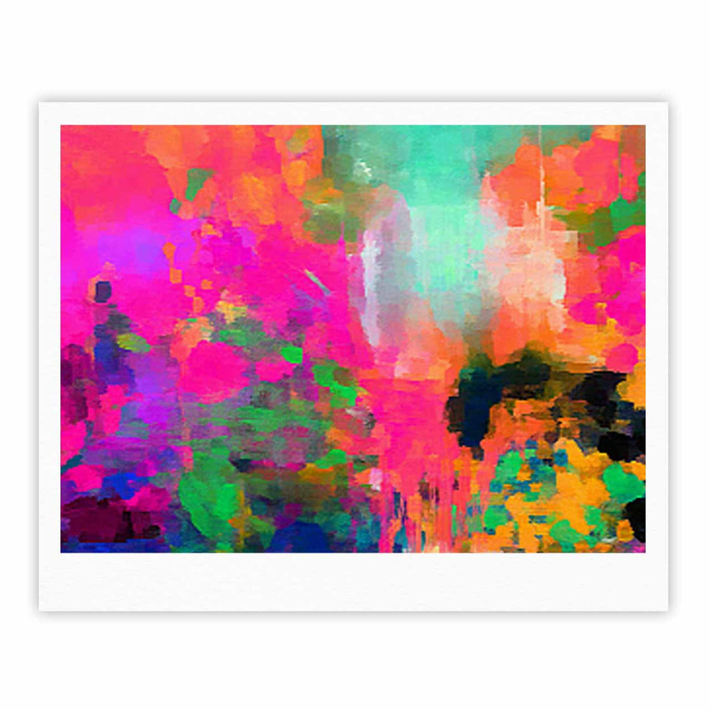 "Oriana Cordero ""Montesilvano-Abstract"" Rainbow Painting Fine Art Gallery Print - KESS InHouse"