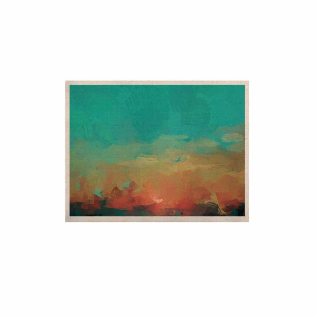 "Oriana Cordero ""Martinique"" Orange Teal KESS Naturals Canvas (Frame not Included) - KESS InHouse  - 1"