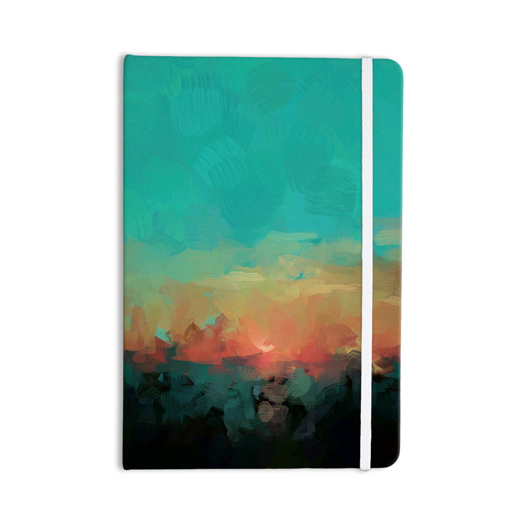 "Oriana Cordero ""Martinique"" Orange Teal Everything Notebook - KESS InHouse  - 1"
