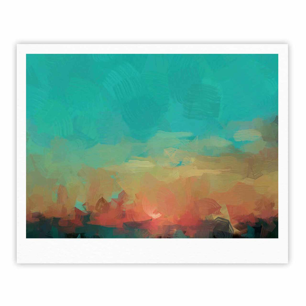 "Oriana Cordero ""Martinique"" Orange Teal Fine Art Gallery Print - KESS InHouse"