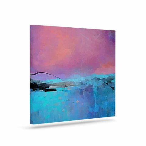 "Oriana Cordero ""Versailles-Abstract"" Pink Blue Canvas Art - KESS InHouse  - 1"