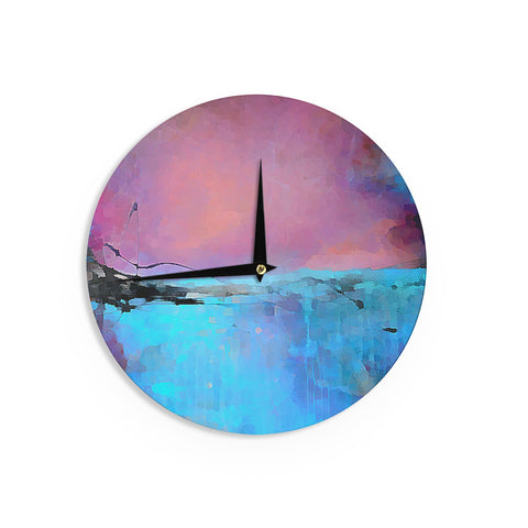 "Oriana Cordero ""Versailles-Abstract"" Pink Blue Wall Clock - KESS InHouse"