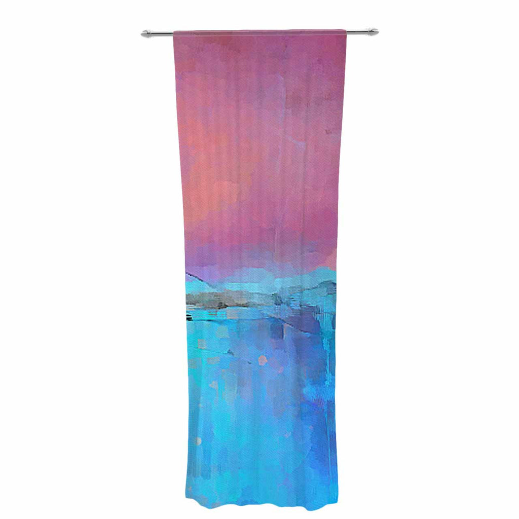 "Oriana Cordero ""Versailles-Abstract"" Pink Blue Decorative Sheer Curtain - KESS InHouse  - 1"