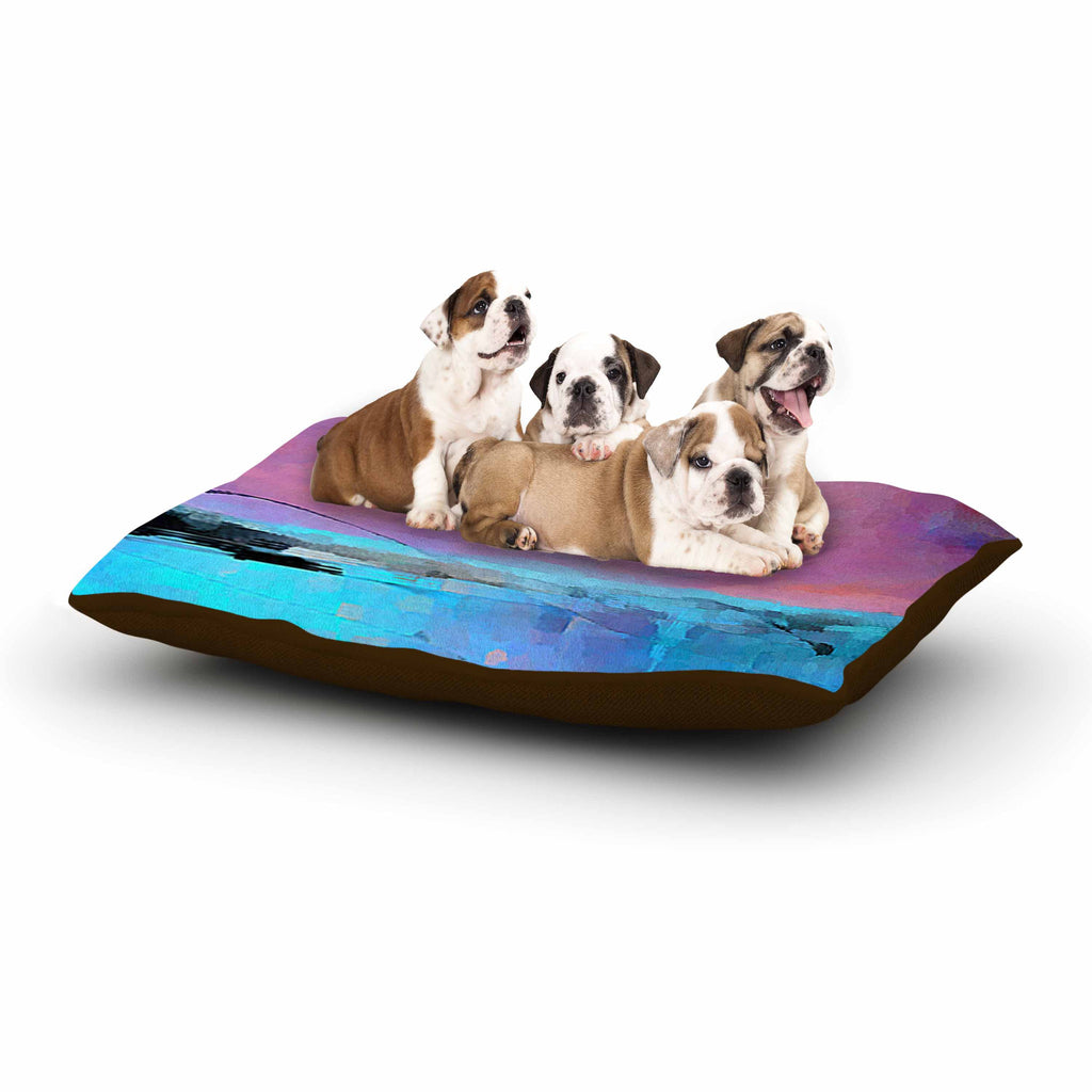 "Oriana Cordero ""Versailles-Abstract"" Pink Blue Dog Bed - KESS InHouse  - 1"
