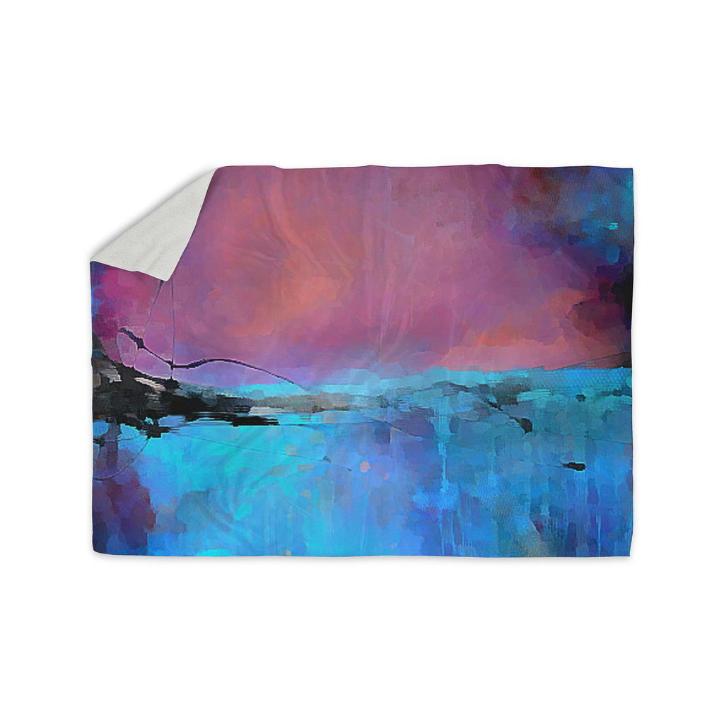 "Oriana Cordero ""Versailles-Abstract"" Pink Blue Sherpa Blanket - KESS InHouse  - 1"