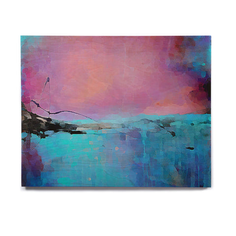 "Oriana Cordero ""Versailles-Abstract"" Pink Blue Birchwood Wall Art - KESS InHouse  - 1"