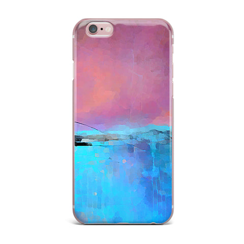 "Oriana Cordero ""Versailles-Abstract"" Pink Blue iPhone Case - KESS InHouse"