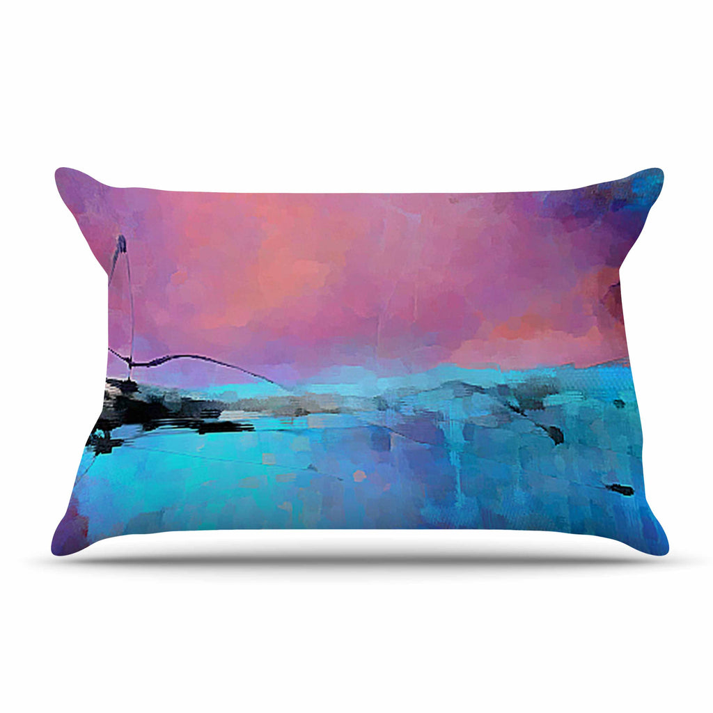 "Oriana Cordero ""Versailles-Abstract"" Pink Blue Pillow Sham - KESS InHouse"