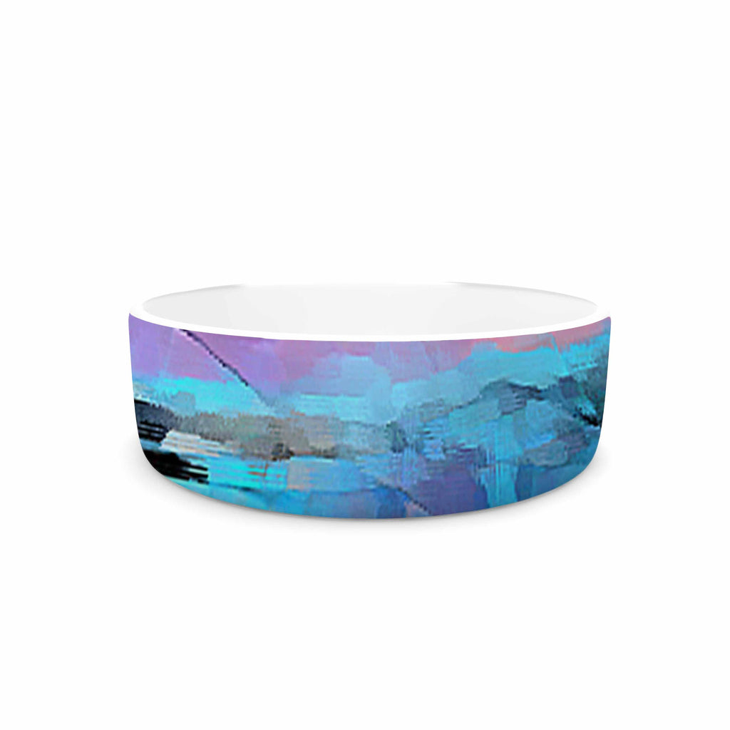 "Oriana Cordero ""Versailles-Abstract"" Pink Blue Pet Bowl - KESS InHouse"