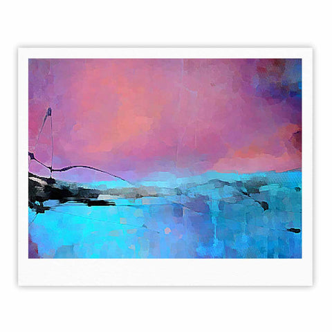 "Oriana Cordero ""Versailles-Abstract"" Pink Blue Fine Art Gallery Print - KESS InHouse"