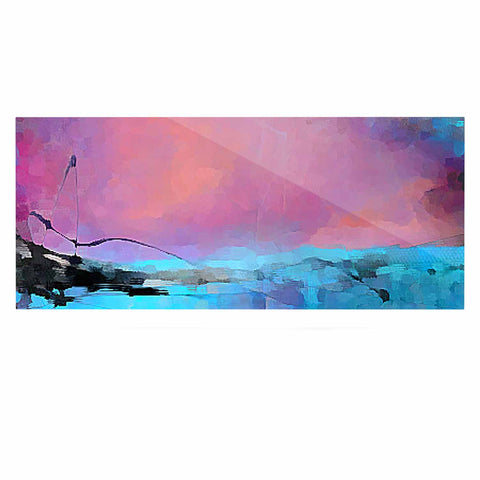 "Oriana Cordero ""Versailles-Abstract"" Pink Blue Luxe Rectangle Panel - KESS InHouse  - 1"