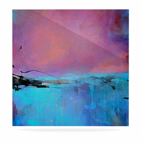 "Oriana Cordero ""Versailles-Abstract"" Pink Blue Luxe Square Panel - KESS InHouse  - 1"